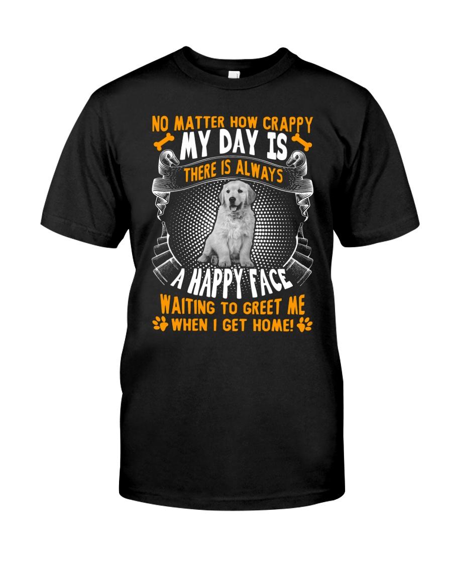 Golden Retriever Happy Face Classic T-Shirt