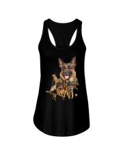 GAEA - German Shepherd Running - 1203 Ladies Flowy Tank thumbnail