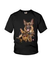 GAEA - German Shepherd Running - 1203 Youth T-Shirt thumbnail