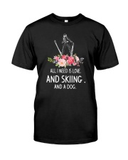 Skiing And Dog 2304 Classic T-Shirt thumbnail