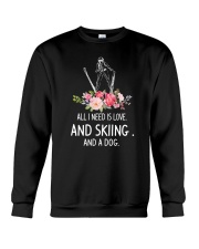 Skiing And Dog 2304 Crewneck Sweatshirt thumbnail