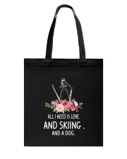 Skiing And Dog 2304 Tote Bag thumbnail