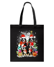 Bernese Mountain Dog Family Christmas  Tote Bag thumbnail