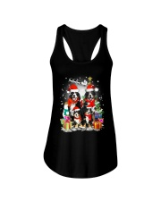 Bernese Mountain Dog Family Christmas  Ladies Flowy Tank thumbnail