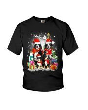 Bernese Mountain Dog Family Christmas  Youth T-Shirt thumbnail