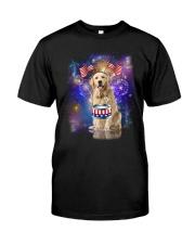 Golden Retriever Independence 0606 Classic T-Shirt tile