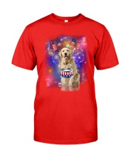 Golden Retriever Independence 0606 Classic T-Shirt front