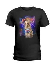 Golden Retriever Independence 0606 Ladies T-Shirt thumbnail