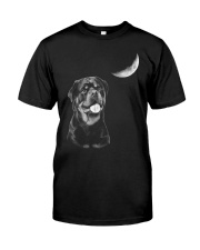 Rottweiler Moon Classic T-Shirt front