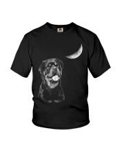Rottweiler Moon Youth T-Shirt thumbnail