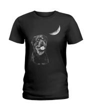 Rottweiler Moon Ladies T-Shirt thumbnail