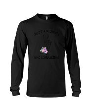 Skiing Love Woman 2104 Long Sleeve Tee thumbnail