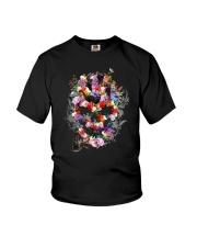 Black Cat Skull Flower 0506 Youth T-Shirt thumbnail
