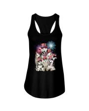 Siberian Husky USA 2505 Ladies Flowy Tank thumbnail