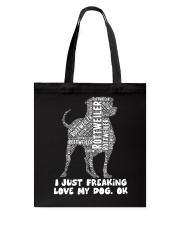 Rottweiler Typos Tote Bag tile