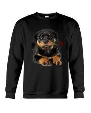 Rottweiler Rose Crewneck Sweatshirt thumbnail