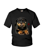 Rottweiler Rose Youth T-Shirt thumbnail