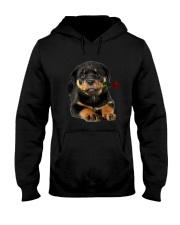 Rottweiler Rose Hooded Sweatshirt thumbnail