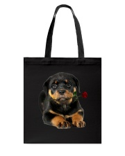 Rottweiler Rose Tote Bag thumbnail