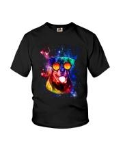 Rottweiler Galaxy Youth T-Shirt thumbnail
