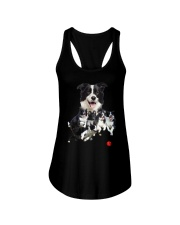 Border Collie Runnig  Ladies Flowy Tank thumbnail