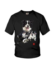 Border Collie Runnig  Youth T-Shirt thumbnail