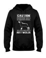 Rottweiler Caution Hooded Sweatshirt thumbnail