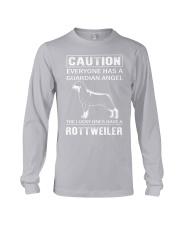 Rottweiler Caution Long Sleeve Tee thumbnail