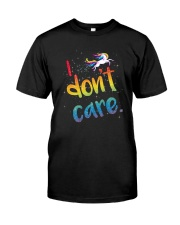 Unicorn Don't Care 2504 Classic T-Shirt front