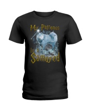 Samoyed Patronus Ladies T-Shirt thumbnail