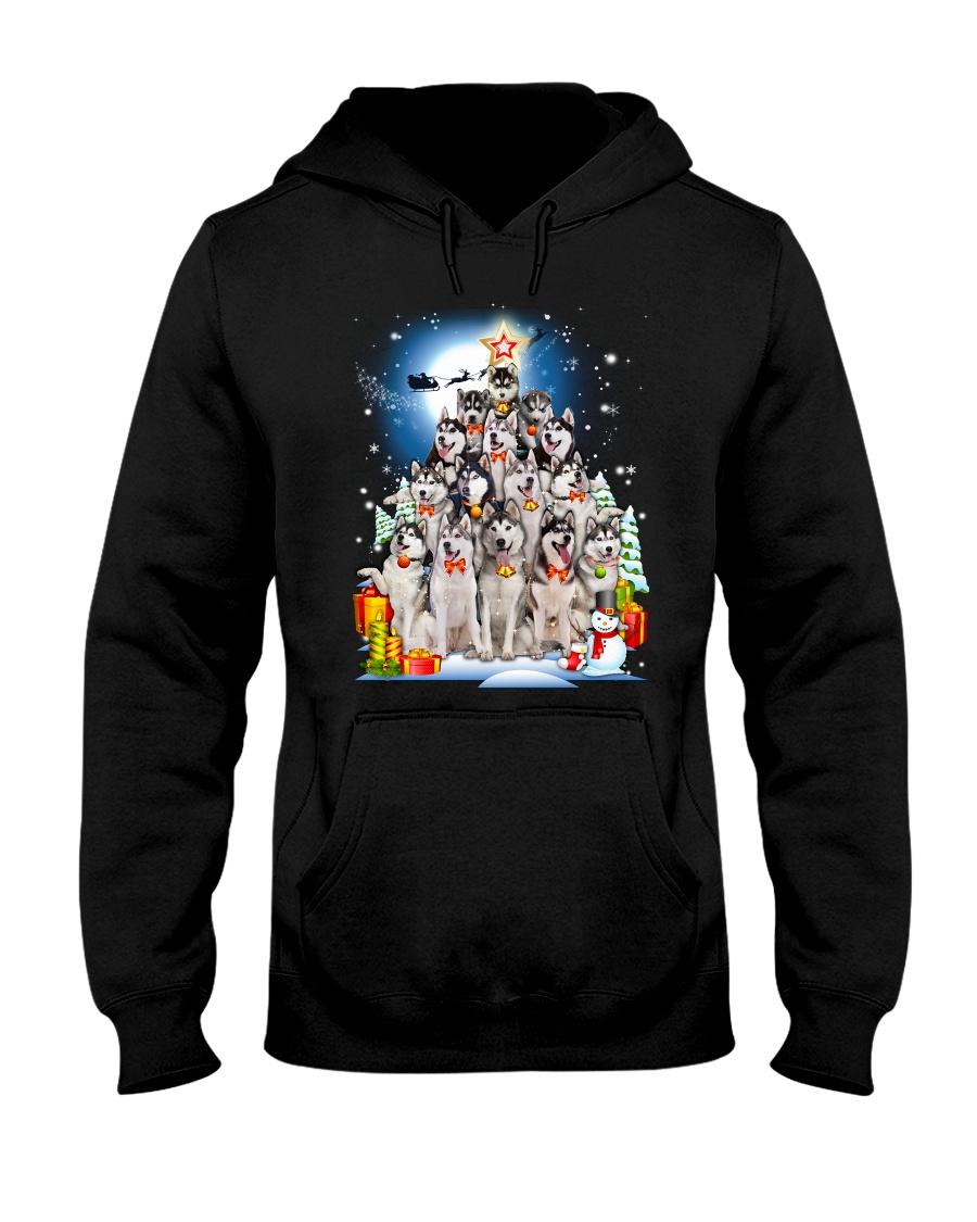 GAEA - Siberian Husky Pine - 1010 Hooded Sweatshirt