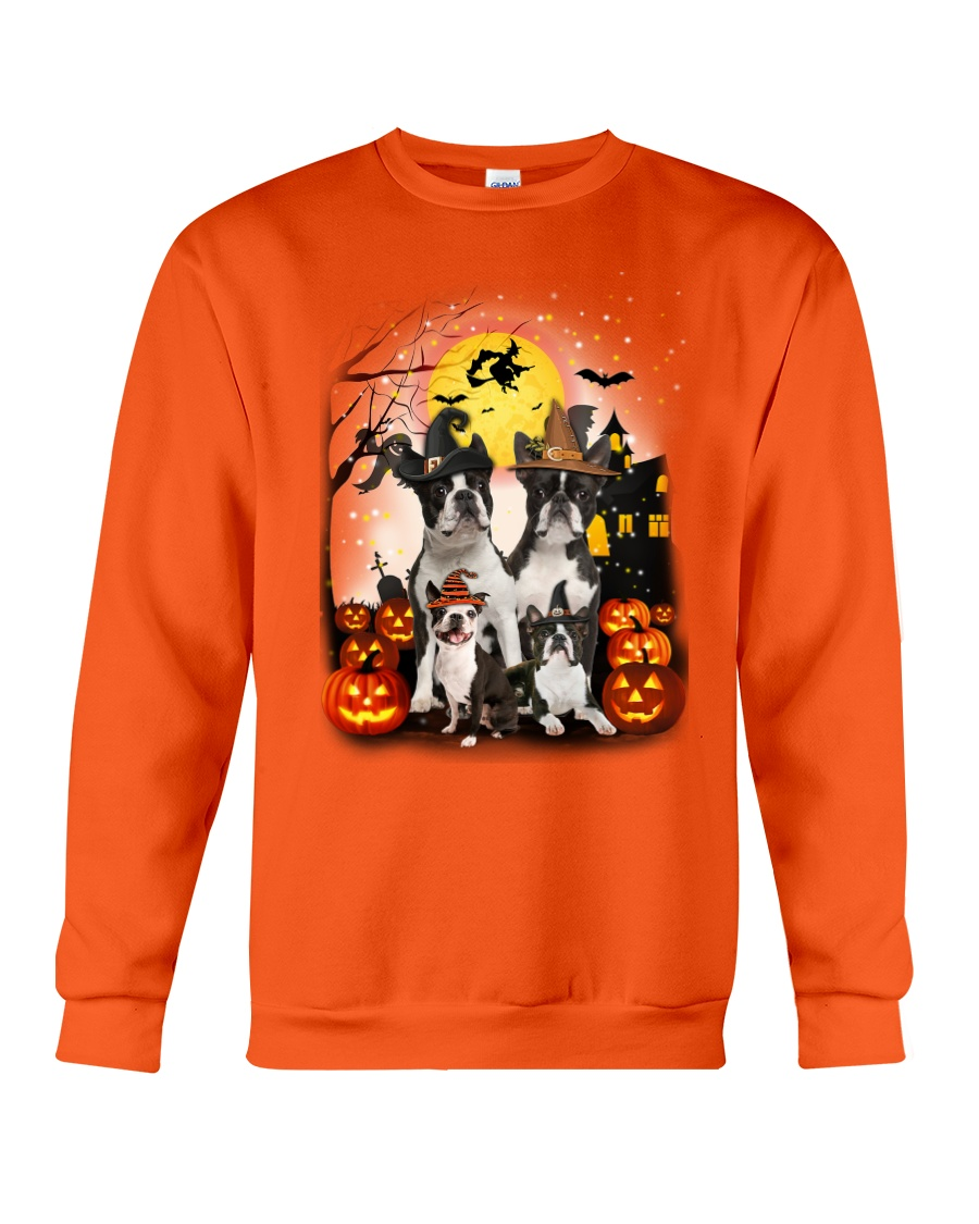 ZEUS - Boston Terrier Halloween - 2508 - A6 Crewneck Sweatshirt