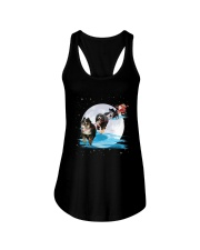 GAEA - Bernese Mountain Dog Santa -1011 - 32 Ladies Flowy Tank thumbnail
