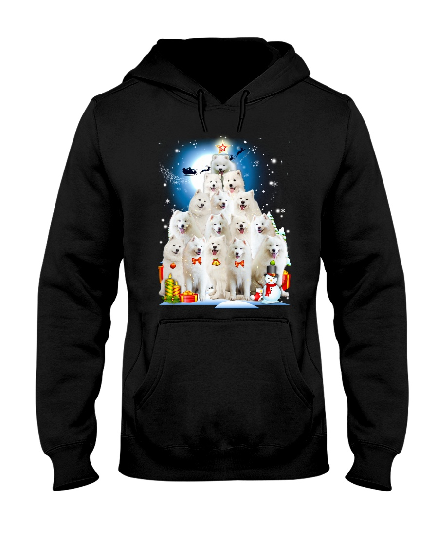 Samoyed Pine Hooded Sweatshirt