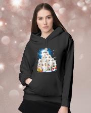 Samoyed Pine Hooded Sweatshirt lifestyle-holiday-hoodie-front-1