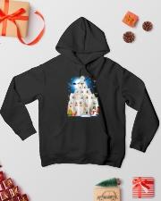Samoyed Pine Hooded Sweatshirt lifestyle-holiday-hoodie-front-2