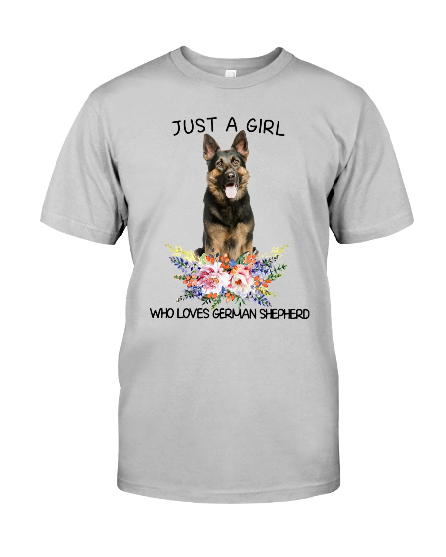 German Shepherd Loves Girl 0204 Classic T-Shirt