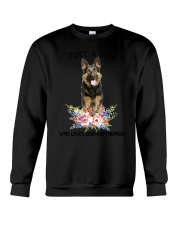 German Shepherd Loves Girl 0204 Crewneck Sweatshirt thumbnail