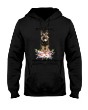 German Shepherd Loves Girl 0204 Hooded Sweatshirt thumbnail