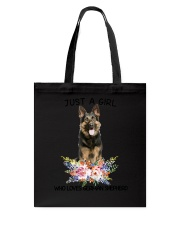 German Shepherd Loves Girl 0204 Tote Bag thumbnail
