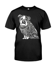 Bulldog Pattern 280218 Classic T-Shirt front