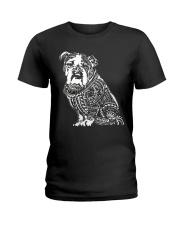 Bulldog Pattern 280218 Ladies T-Shirt thumbnail