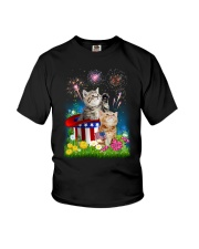 Cat USA Firework 0706 Youth T-Shirt tile
