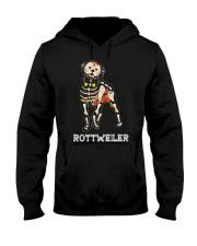 Rottweiler Bone Hooded Sweatshirt thumbnail