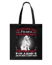 Dalmatian Telling Mom Tote Bag thumbnail