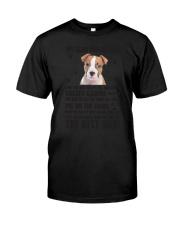 American Staffordshire Terrier Dear Human Dad 0106 Classic T-Shirt thumbnail
