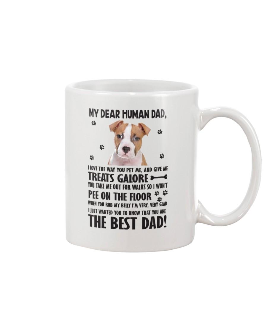 American Staffordshire Terrier Dear Human Dad 0106 Mug