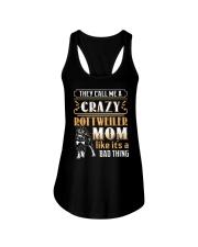 Rottweiler Crazy Mom Ladies Flowy Tank thumbnail