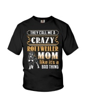 Rottweiler Crazy Mom Youth T-Shirt thumbnail