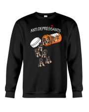 German Shepherd Anti Crewneck Sweatshirt thumbnail